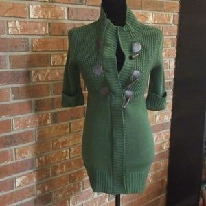 Take out Green Sweater Dress